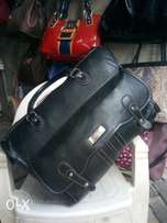 Pure leather travelling bag