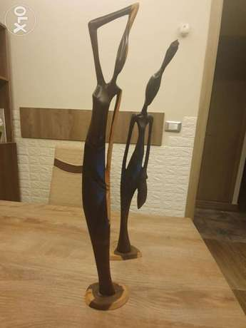 2 items wood hand made decoration from africa very stylish and modern