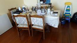 ITS A STEAL!! Table and 6 chairs good condition
