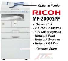 MP 2000 ricoh printer