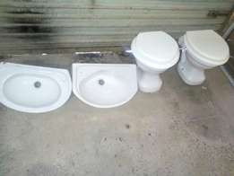 Normal and Small children toilet pans and small handbasins