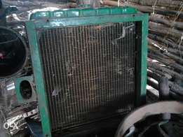 Deere engine with large radiator for quick sale