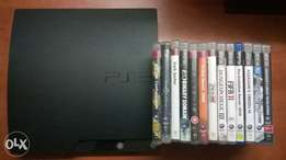playstation3 slim with 13 games