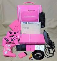 pink playstation 2 on sale asc seen