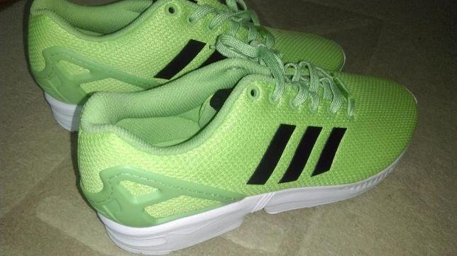 buty adidas zx flux ciemny zielen