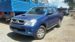 2011 model double cabin Toyota Hilux blue colour.Buy on hire-purchase!