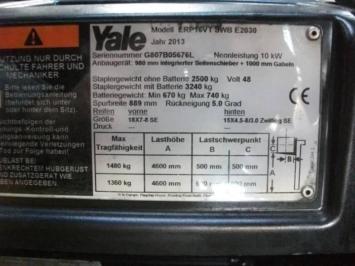 Yale erp 16 vt swb - 2013