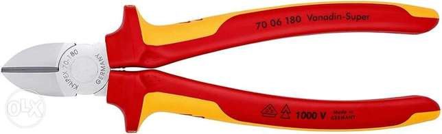 KNIPEX Diagonal Cutter 1000V-insulated (180 mm) 70 06 180