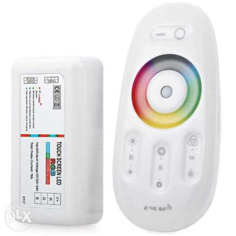 2.4G RGB LED strip controller touch remote control RF