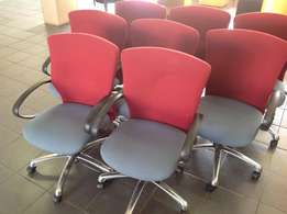 Red/Grey Swivel Chairs