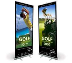 Great Prices quoted for roll up banners include stand, printed graphic