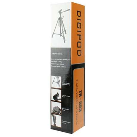 DIGIPOD TR-553 Traveler Camera Tripod 130cm with 3-Way Panoramic Head Westlands - image 3