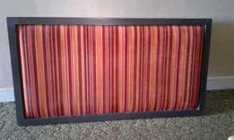 137cm Orange Striped Wall Mounted Headboard