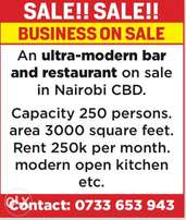 Ultra-Modern bar and Restaurant for sale