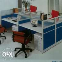 Imported 4-Seater Durable Office Workstation Table