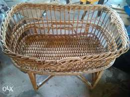 Cane two piece cot