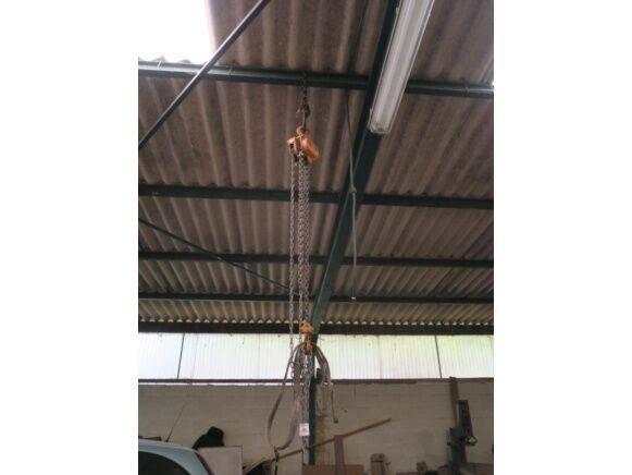Hoist 1500 kg, trolley for rail, rail, hook telpher for sale by