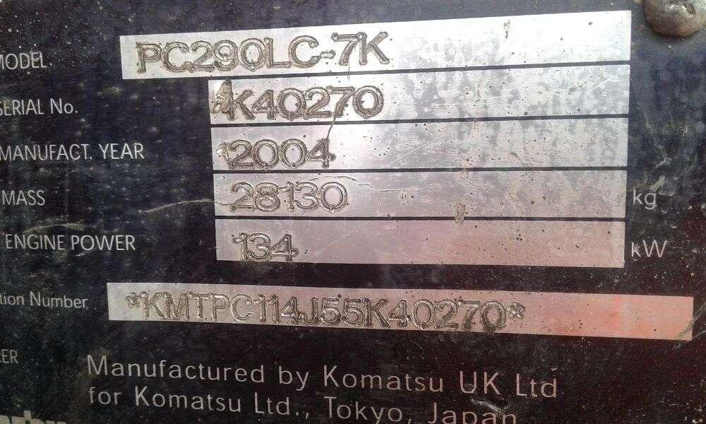 Komatsu PC290 LC 7K - 2004 - image 5