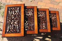 Hand Carved Wooden Coffee Tables