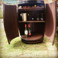 Wine Barrel Mini Bar