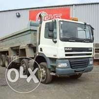 Tipper trucks for rubble removals