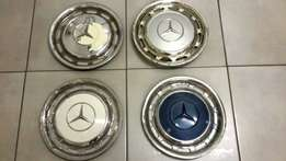 4 x Mercedes Benz Steel Hubcaps