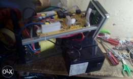 Solar power inverters and backups