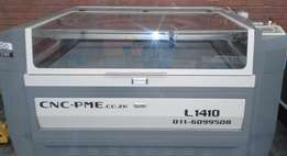 130 Watt Laser Cutter PS 1410 With Honeycomb And Water Chiller