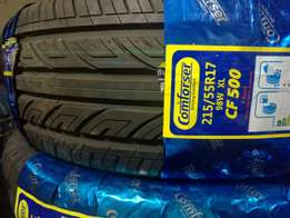 tyre comfoser 215/55/17 only 9,000 free delivery within cbd