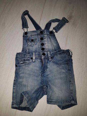 bc5336ceb0ddc3 92 jeansowe ogrodniczki krótkie spodenki spodnie szelki Kraków - image 1