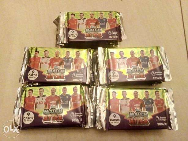 match attax 2016/17 cards packs sealed