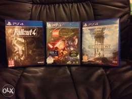 Starwars Battlefront/Starwars Lego & Fallout4 PS4 Games