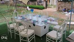 Glass table's for hire
