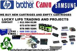 We will pay you more for new cartridges and empty cartridges & supply