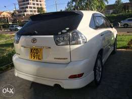 Toyota Harrier pearl white body kit buy and drive
