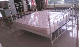 Metal Bed and Spring Mattress new and Sealed