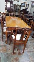 Stinkwood Dining Table + 8 × Chairs