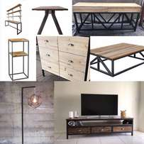 Custom made steel and wood furniture