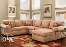 U Classic Sofa Sets Available In Any Velvet Colour Ugsh. 1,200,000/-