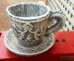 Cup and Saucer Planter Large