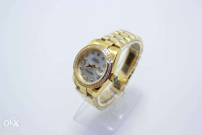Datejust Gold Automatic For women ساعة حريمي