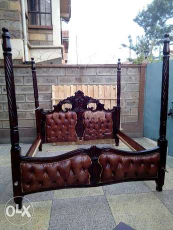 6 by 6 bed with a dressing table,side drawers, a mattress and a net South C - image 2