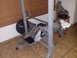 Bench and Rowing Machine
