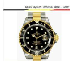Rolex submariner silver and gold