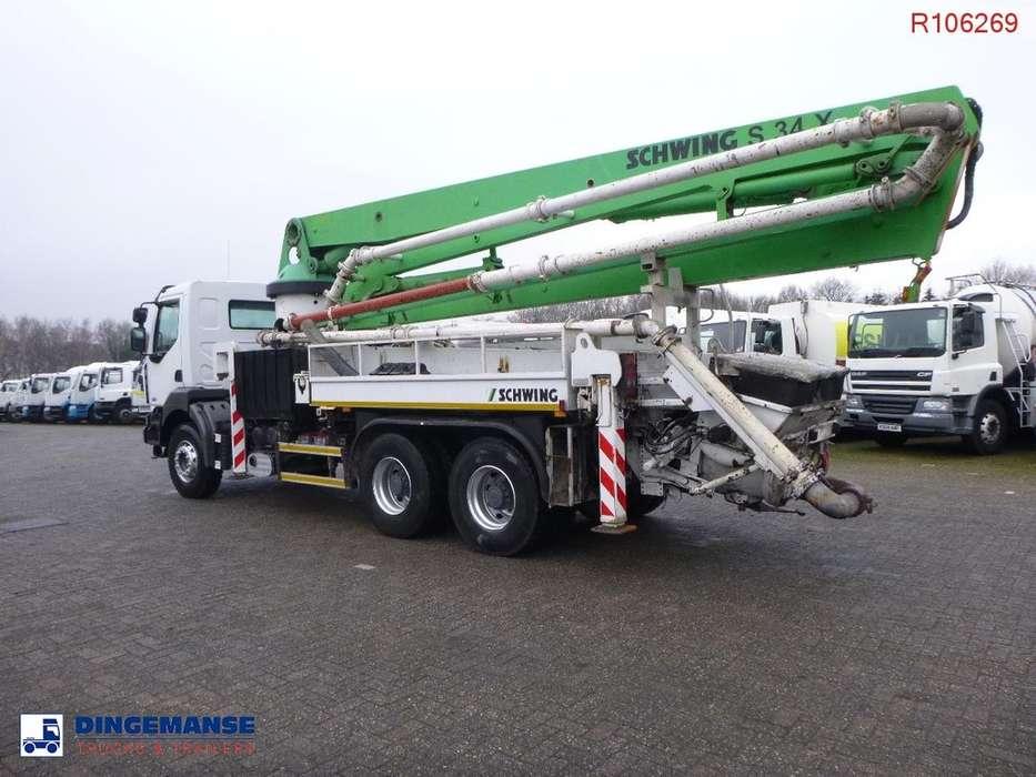 Renault KERAX 420 34 dci 6x4 Schwing S34X concrete pump