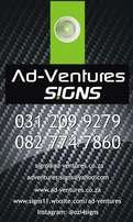 Ad-Ventures l Signs LASER CUT SIGNS