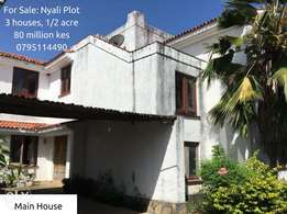 1/2 Acre Nyali Plot with 3 Houses