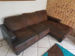 Lovely L-shape leather couch