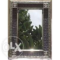 XLARGE Handmade Moroccan Imported Detailed wooden frame mirror XL