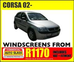 Corsa windscreen specials